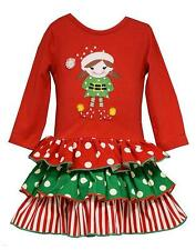 New Girls Bonnie Jean sz 18m Red Green ELF Dress Party Holiday Christmas Clothes