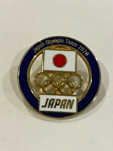 Japan Tokyo 2020 NOC Pin Badge (Dated) - Blue Edition