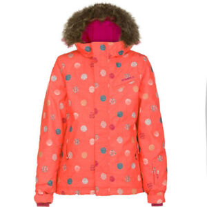 O'Neill Radiant Insulated Snowboard Jacket Girl's Youth 10 / 152 Poppy Red New