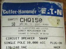 CUTLER HAMMER CHQ150 Single Pole 50 Amp CHQ Square D Q0150 Breaker*Price Per Ea*