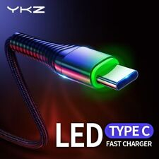 1M YKZ LED 3A USB Type C Cable Fast Charge Wire Type-C for Samsung Galaxy Xiao