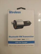 Just Wireless 2-Port Usb Bluetooth Car Charger Wireless Fm Transmitter