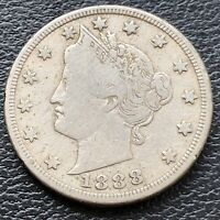 1888 Liberty Head Nickel 5c Higher Grade VF #28875