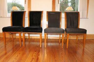 4 schöne antike Holz Stühle Vorbild 1807