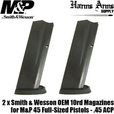 2 Pack Smith & Wesson M&P 45 10 Round Magazines OEM Factory .45 ACP 194690000