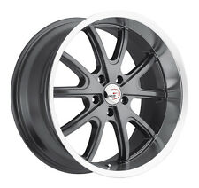 "4-NEW Vision 143 Torque 18x8.5 5x114.3/5x4.5"" +20mm Gunmetal Wheels Rims"