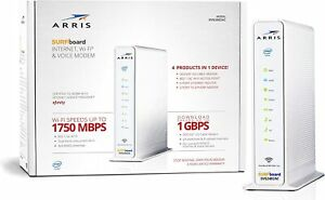 Arris Surfboard Internet WiFi Voice Cable Modem SVG2482AC DOCSIS 3.0 Xfinity