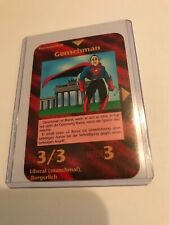 GENSCHMAN: Illuminati German INWO CCG 1996 card, Rare UNIQUE Group, Liberal hero