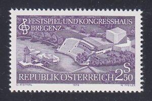Austria 1979 MNH Mi 1623 Sc 1135 Festival & Convention Center Bregenz