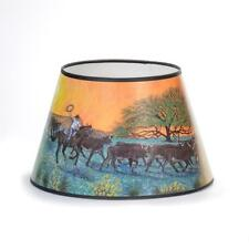 """Aladdin Lamps 14"""" Parchment/Paper Shade """"Ride Into the Sunset"""" #100021110 Cowboy"""