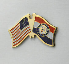 MISSOURI US STATE FLAG COMBO FRIENDSHIP LAPEL PIN BADGE 3/4 INCH