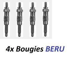 4 BOUGIE DE PRECHAUFFAGE BERU FIAT PUNTO Van (176_) 1.7 D 57ch