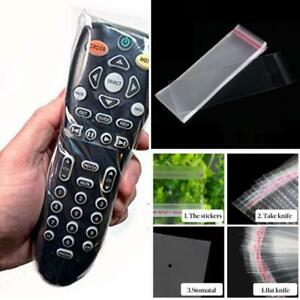 FOR TV REMOTE CONTROL CLEAR PLASTIC PROTECTIVE ANTI-DUST COVER BAG DISPOSABLE