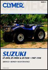 CLYMER SERVICE MANUAL M483-2 SUZUKI LT-F250 QUAD RUNNER 250 4X4 1988 89 90 1991
