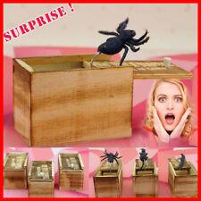 Hilarious Scare Box Spider Prank - Wooden Scarebox Joke Amish Made Amish Wooden