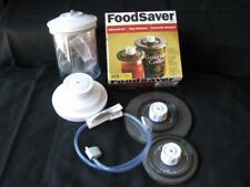 New listing Food Saver Snail Ky-114 Vacuum Canister Container With Lid & Accessories 25 Oz