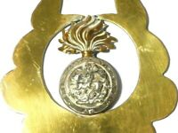 Antique Military Horse Brass Northumberland Fusiliers Regiment #HB105
