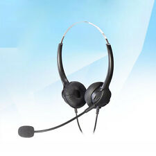 T601 Call Center Customer Service Handsfree Headset Mic Earpiece Plug for PC Mac