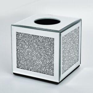 Diamond Crush Square Tissue Box Holder