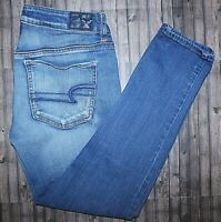 AMERICAN EAGLE SUPER STRETCH MEDIUM WASH LOW RISE ANKLE JEGGING SIZE 8 REG