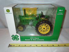 John Deere B Narrow Front With Umbrella 4-H Commemorative Edition   By Ertl