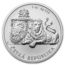 2017 Czech Republic Lion 1 oz .999 Silver Bullion Round Very Limited Coin
