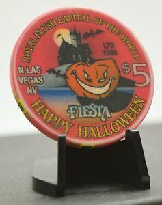 Fiesta Casino $5 Happy Halloween Chip Las Vegas Nevada 1998