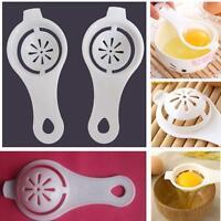 White Creative Egg Seperator Separator Kitchen Cooking Gadget Sieve Plastic GIFT