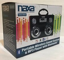 Naxa NAS-3043 Portable Wireless Sound System & Mp3 Player with Bluetooth