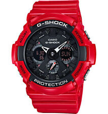 Crazy Deal New G-Shock GA201RD-4A Red With Black Dial Analog-Digi Mens Watch