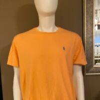Polo Ralph Lauren Mens T-Shirt Orange Size Large L Tee Crewneck Classic Fit
