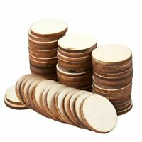 60 Pcs Unfinished Wood Slices, Round Natural Rustic Wooden Circles for DIY, 1""