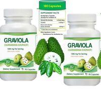 Antioxidant 180 Capsules  Graviola Leaf 1500mg - Soursop guanabana annona immune