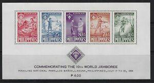 PHILIPPINES - 1959 BOY SCOUTS WORLD JAMBOREE SOUVENIR SHEET MNH