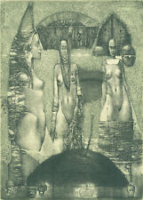 NEW Exlibris THREE GRACES by Konstantin Antioukhin Original Signed Limited