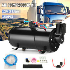 12V 3L 150PSI Air Compressor Tank Air Horn Protector Switch Truck Train Pickup