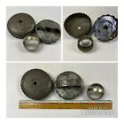 Antique Tin Round Scalloped Flatback Cookie Biscuit & Donut Cutters Set of 3 (T4