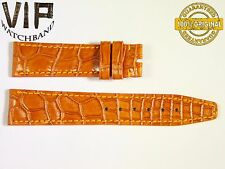 NEW OEM Authentic IWC SANTONI strap 18 mm alligator ORANGE COLOR