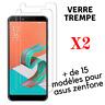 Verre Trempé X2 Film Vitre pour ASUS ZENFONE 5/5Z/4MAX/3MAX/MAXPLUS/LASER/GO