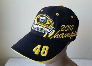 Jimmie Johnson #48 NASCAR 2010 Sprint Cup Series Champion Hat Cap New