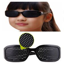 Black Eyesight Improver Anti-fatigue Vision Care Stenopeic Glasses US