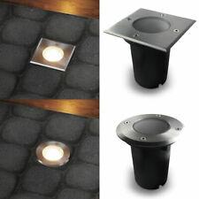 LED Bodenleuchte Bodeneinbaustrahler aussen Gartenleuchte IP67 dimmbar GU10 230V