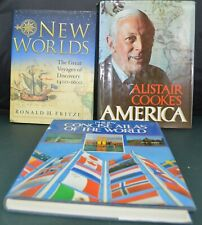 3 BOOKS PHILIPS CONCISE ATLAS OF THE WORLD/ALISTAIR COOKE'S AMERICA & NEW WORLDS