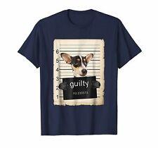 New! Rat terrier dog Dog mug shot bad dog Shirt Funny Vintage Gift Men Women