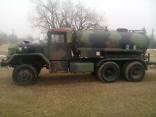 1973 5 Ton AM General 6x6 M809 Military Water Tank Truck 855 Cummins Diesel NR !