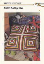 Crochet Pattern ~ GIANT FLOOR PILLOW ~ Instructions