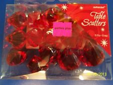 Red Gem Diamond Jewel Holiday Party Decoration Confetti Plastic Table Scatters