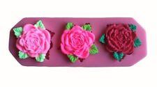 Flor Rosa Silicona Molde para Decoración de pasteles de chocolate reposterìa Boda Reino Unido