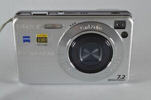 Sony Cyber-shot DSC-W110 7.2MP Digital Camera Silver + Battery + Battery Charger