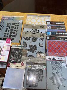 media and textile stencil lot